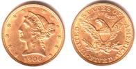 5 Dollar 1906 D USA Coronet Head - Liberty f.st  698,00 EUR  zzgl. 6,95 EUR Versand