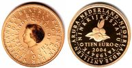 10 Euro 2004 Niederlande 50 Jahre Statut der Niederlande PP  479,00 EUR  zzgl. 6,95 EUR Versand