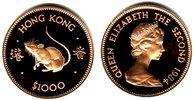 1.000 Dollar 1984 Hongkong Tierkreiszeichen - Jahr der Ratte PP  699,90 EUR