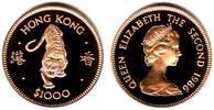 1.000 Dollar 1986 Hongkong Tierkreiszeichen - Lunar Serie - Jahr des Ti... 698,90 EUR