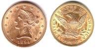 10  Dollar 1894 USA Goldmünze - Liberty - Eagle - Coronet Head vz/ min.... 698,90 EUR  zzgl. 6,95 EUR Versand