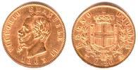 20 Lire 1863 T Italien-Toskana König Vittorio Emanule II.  vz/ min. Rf.  279,90 EUR  zzgl. 6,95 EUR Versand