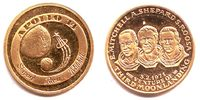 Goldmedaille 1971 Raumfahrt Apollo 14 PP  159,90 EUR  zzgl. 6,95 EUR Versand