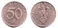 50 Pfennig 1938 J Drittes Reich 50 Reichspfennig f.st  129,90 EUR  zzgl. 6,95 EUR Versand