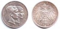 3 Mark 1915 A Braunschweig Hochzeit Ernst August + Victora Luise  vz/st  219,00 EUR  zzgl. 6,95 EUR Versand