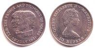 Mauritius 10 Rupees Hochzeit Prinz Charles und Lady Diana Spencer
