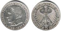 5 Mark 1957 J Deutschland 5 Mark Eichendorff vz/Rf.  179,00 EUR  zzgl. 6,95 EUR Versand