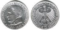 5 Mark 1957 J Deutschland 5 Mark Eichendorff vz/Rf.  189,00 EUR  zzgl. 6,95 EUR Versand