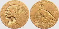 2 1/2 Dollar 1913 USA - Vereinigte Staaten Indian Head vz  349,00 EUR  zzgl. 6,95 EUR Versand