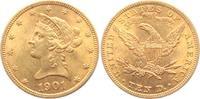 10  Dollar 1901 USA Liberty - Eagle - Coronet Head vz  698,00 EUR  zzgl. 6,95 EUR Versand