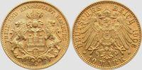 10 Mark 1906 J Hamburg Stadtwappen - großer Adler ss+  279,00 EUR
