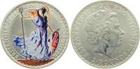 2 Pounds - 1 Unze 2006 Großbritannien Britannia farbig st - Farbmünze  59,00 EUR