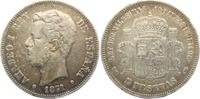 5 Pesetas 1871 DEM Spanien Amadeo I. (1871 - 1873) ss  59,90 EUR  zzgl. 6,95 EUR Versand