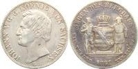 Ausbeutetaler 1861 B Sachsen Johann (1854 - 1873) - Segen des Bergbaus ss  69,90 EUR