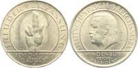 3 Reichsmark 1929 J Weimarer Republik Schwurhand - Hindenburg vz-st  57,90 EUR