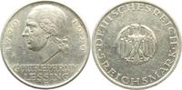 5 Reichsmark 1929 J Weimarer Republik Lessing vz  109,00 EUR  zzgl. 6,95 EUR Versand