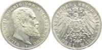 3 Mark 1914 F Württemberg Wilhelm II. von Württemberg (1891 - 1918) vz-... 69,90 EUR  zzgl. 6,95 EUR Versand