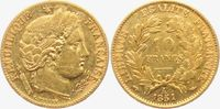 10 Francs 1851 A Frankreich Cereskopf ss  169,00 EUR  zzgl. 6,95 EUR Versand