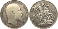 1 Crown 1902 Großbritannien Edward VII. (1901 - 1910) ss  98,00 EUR  zzgl. 6,95 EUR Versand