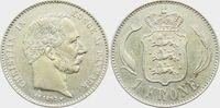 1 Krone 1892 CS Dänemark Christian IX. (1863-1906) vz+  79,00 EUR