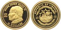 10 Dollars - 1/25 Unze 2003 Liberia Papst Johannes Paul II. (1978 - 200... 54,95 EUR  zzgl. 6,95 EUR Versand