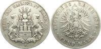 5 Mark 1876 J Hamburg Stadtwappen ss  57,90 EUR  zzgl. 6,95 EUR Versand