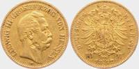 10 Mark 1872 H Hessen Grossherzog Ludwig III. ss/F  395,00 EUR  zzgl. 6,95 EUR Versand