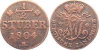 Jülich - Berg 1/2 Stuber 1804 R s-ss Maximilian Joseph von Bayern (1799 ... 9,95 EUR  zzgl. 2,95 EUR Versand