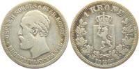 1 Krone 1889 Norwegen Oskar II. (1872 - 1907) s-ss  79,00 EUR  zzgl. 6,95 EUR Versand