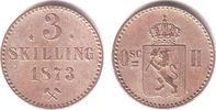 3 Skilling 1873 Norwegen Oscar II. (1872-1905) f.st  98,00 EUR  zzgl. 6,95 EUR Versand