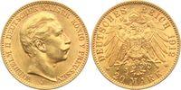 20 Mark 1912 J Preussen Kaiser Wilhelm II. vz/st  349,00 EUR  zzgl. 6,95 EUR Versand