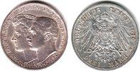 3 Mark 1910 A Sachsen-Weimar-Eisenach Hochzeit Wilhelm Ernst & Feodora ... 59,00 EUR