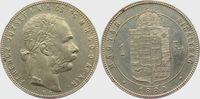 1 Forint 1880 K.B. Österreich/Ungarn Kaiser Franz Joseph I.- Wappen von... 22,00 EUR