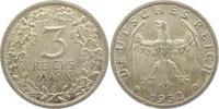3 Mark 1932 G Weimar 3 Mark Kursmünze vz/Rf.  2495,00 EUR