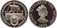 2 Pounds 1992 Alderney Wikingerschiff Mora von Wilhelm der Eroberer PP  49,00 EUR