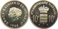 10 Francs 1966 Monaco Fürst Rainer III. (1949 - 2005) - 10. Hochzeitsta... 39,00 EUR
