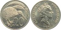 20 Pence 1989 Neuseeland Kiwi - Vögel - Vogel unc.  4,95 EUR