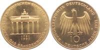 10 Mark 1991 Deutschland Gedenkprägung - Brandenburger Tor - vergoldet ... 14,95 EUR