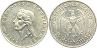 2 Reichsmark 1934 F Drittes Reich Friedrich von Schiller vz  54,00 EUR  zzgl. 6,95 EUR Versand