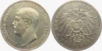 5 Mark 1903 A Waldeck-Pymont Fürst Friedrich (1893-1918) vz/st  4398,00 EUR kostenloser Versand