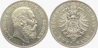2 Mark 1888 Hessen-Darmstadt Ludwig IV. (1877-1892) gutes vz  2698,00 EUR kostenloser Versand