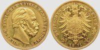 20 Mark 1871 A Preussen Kaiser Wilhelm I. ss+  798,00 EUR  zzgl. 6,95 EUR Versand