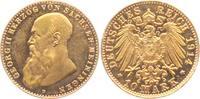 10 Mark 1914 D Sachsen-Meiningen Georg II. (1866-1914) f.st  13875,00 EUR kostenloser Versand