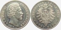 5 Mark 1875 D Bayern König Ludwig II. von Bayern (1864-1886) vz/st  549,00 EUR  zzgl. 6,95 EUR Versand