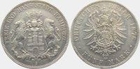 5 Mark 1876 J Hamburg Stadtwappen - kleiner Adler ss/vz  159,00 EUR  zzgl. 6,95 EUR Versand
