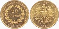 20 Kronen 1924 Österreich 20 Goldkronen prägefrisch  2985,00 EUR kostenloser Versand