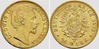 20 Mark 1875 D Bayern König Ludwig II. von Bayern (1864-1886) vz/st  4995,00 EUR kostenloser Versand