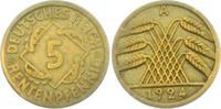 5 Rentenpfennig 1924 A Weimarer Republik 5 Rentenpfennig ss  1,95 EUR  zzgl. 2,95 EUR Versand