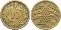10 Reichspfennig 1925 D Weimarer Republik 10 Reichspfennig - Ährenbünde... 4,95 EUR  zzgl. 2,95 EUR Versand