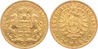 20 Mark 1889 J Hamburg Stadtwappen  - mit kleinem Adler ss/Rf.  1098,00 EUR kostenloser Versand
